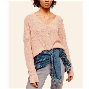 FREE PEOPLE Finders Keepers Sweater NWT S Peach